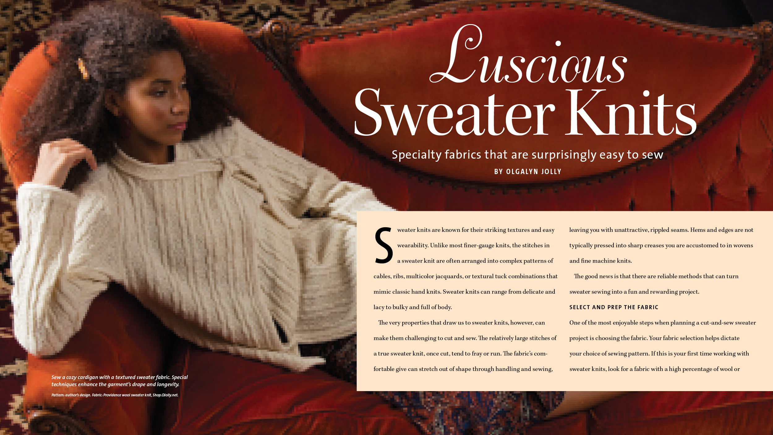 Luscious Sweater Knits - by Olgalyn Jilly