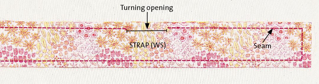 Stitch the straps