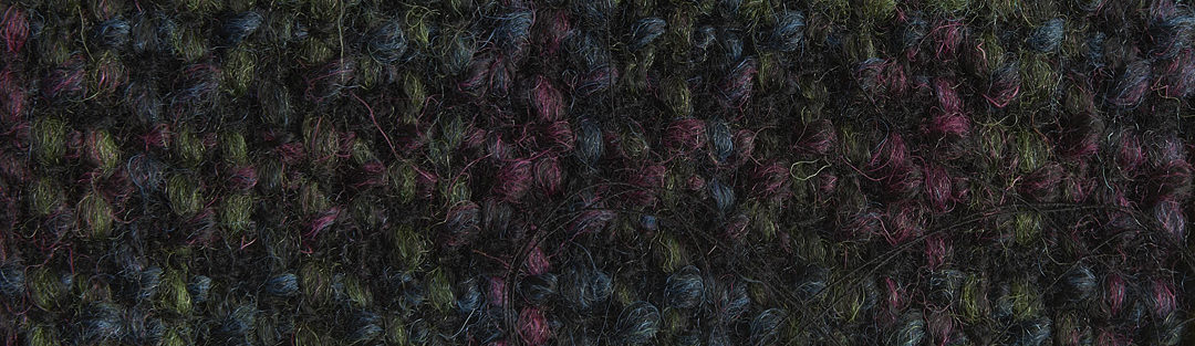 Black/green/purple tweed
