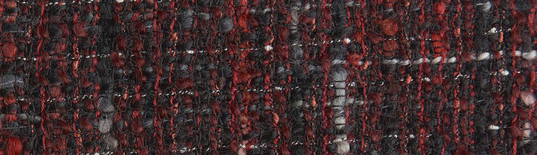 Red/black Chanel-type tweed wool