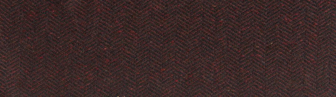 Red/black herringbone tweed wool