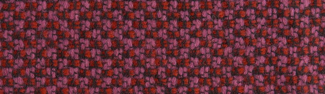Pink/red/black tweed wool