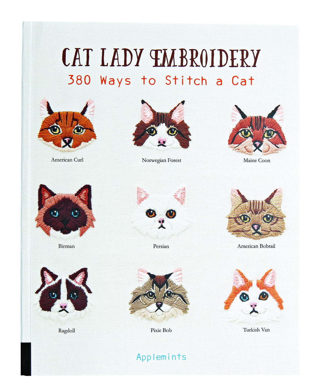 Cat Lady Embroidery book cover