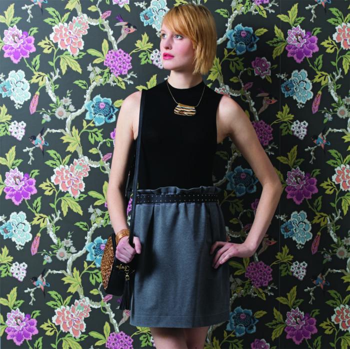Paper-Bag-Waist Skirt