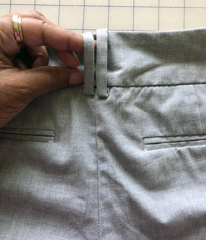 Remove center-back belt loops