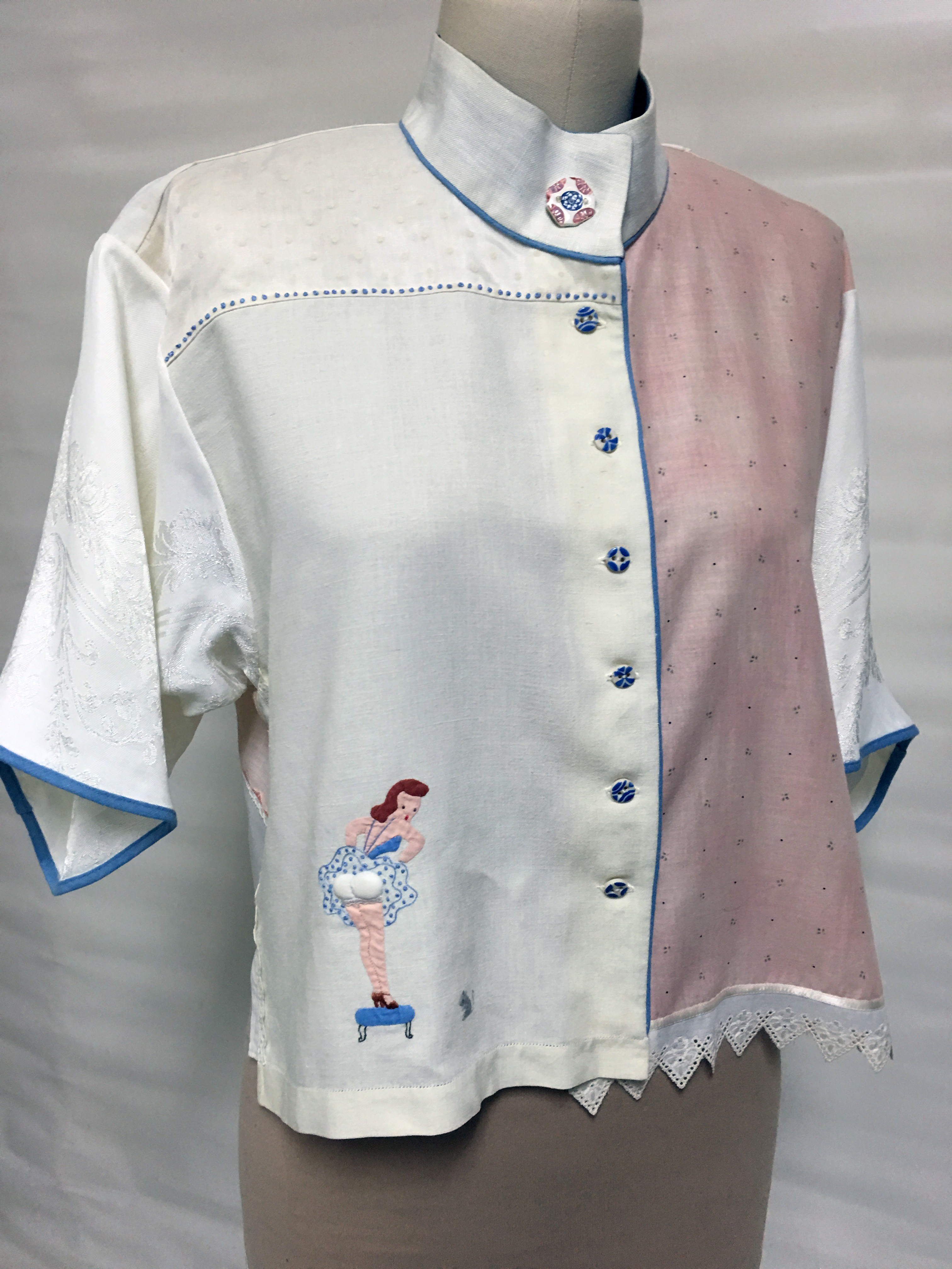 Top made from handkerchief and smaller linens