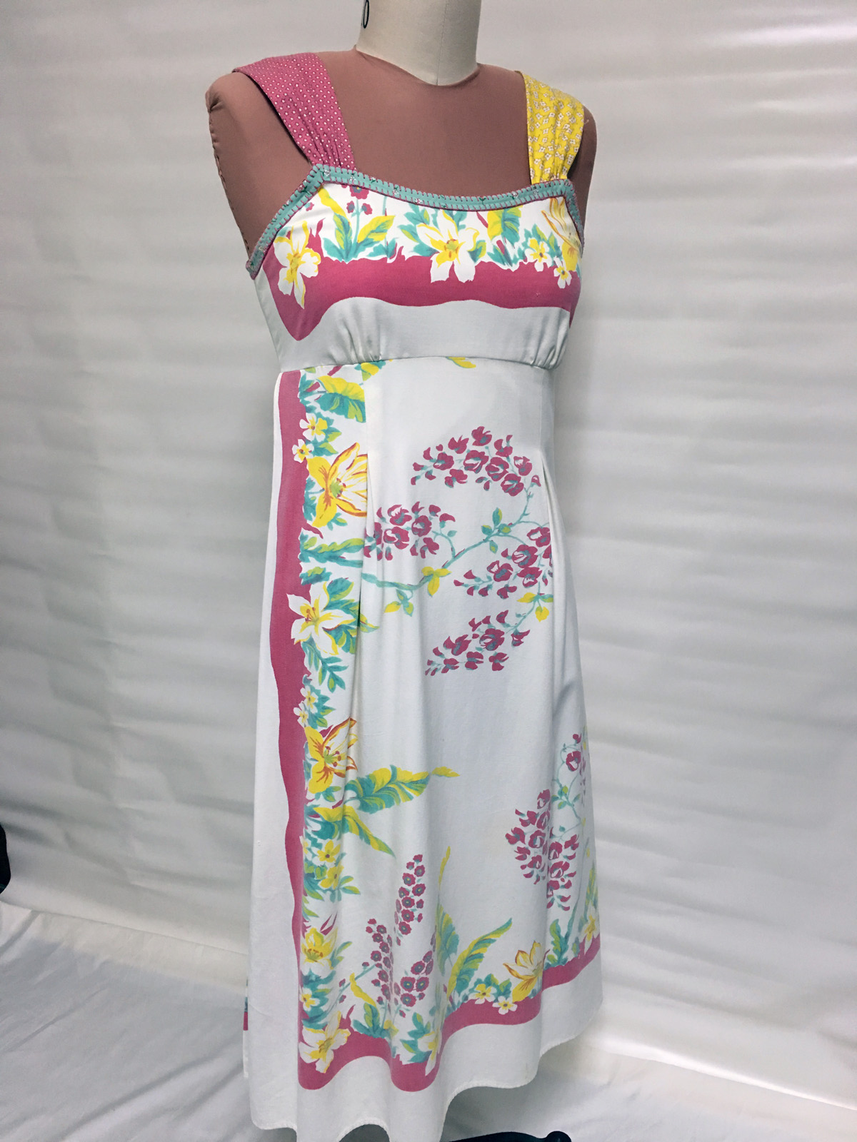 Colorful vintage tablecloth sundress