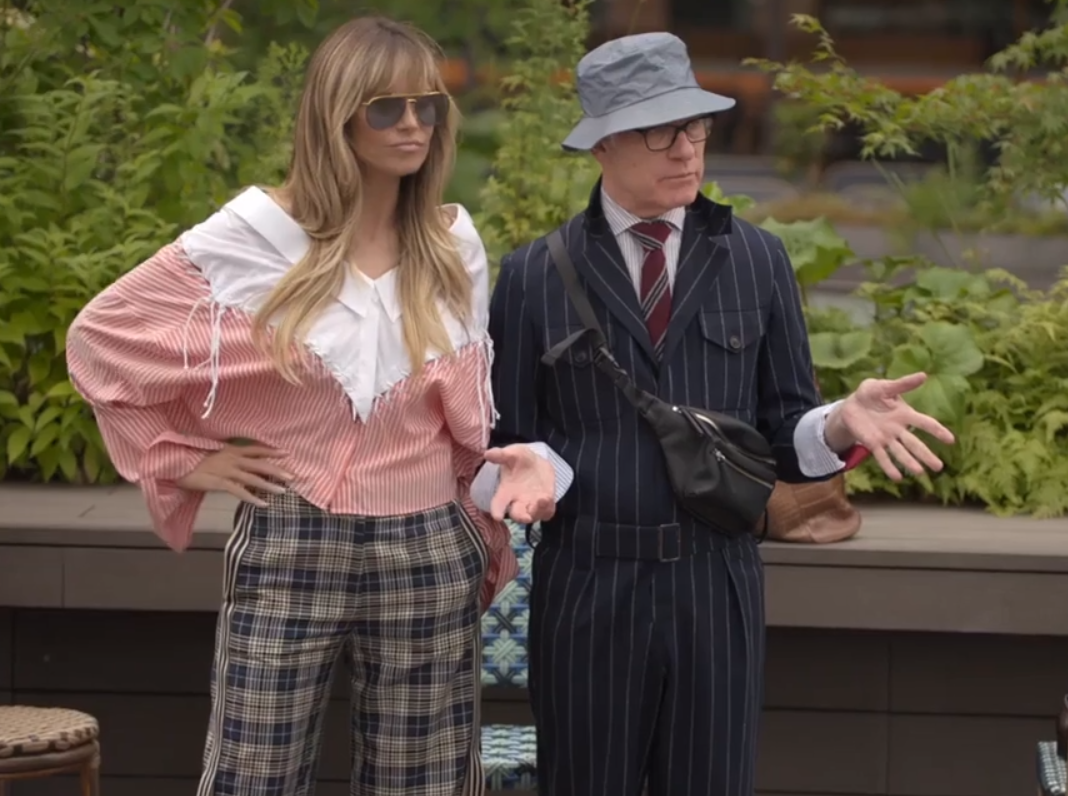 Heidi Klum and Tim Gunn on the set of Making the Cut TV series