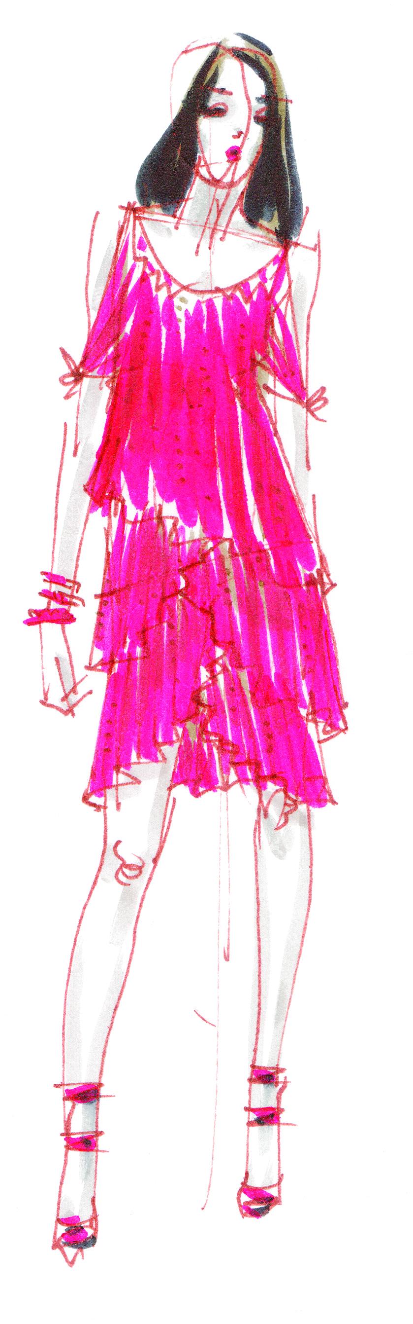 Fashion illustration by Yelen Aye
