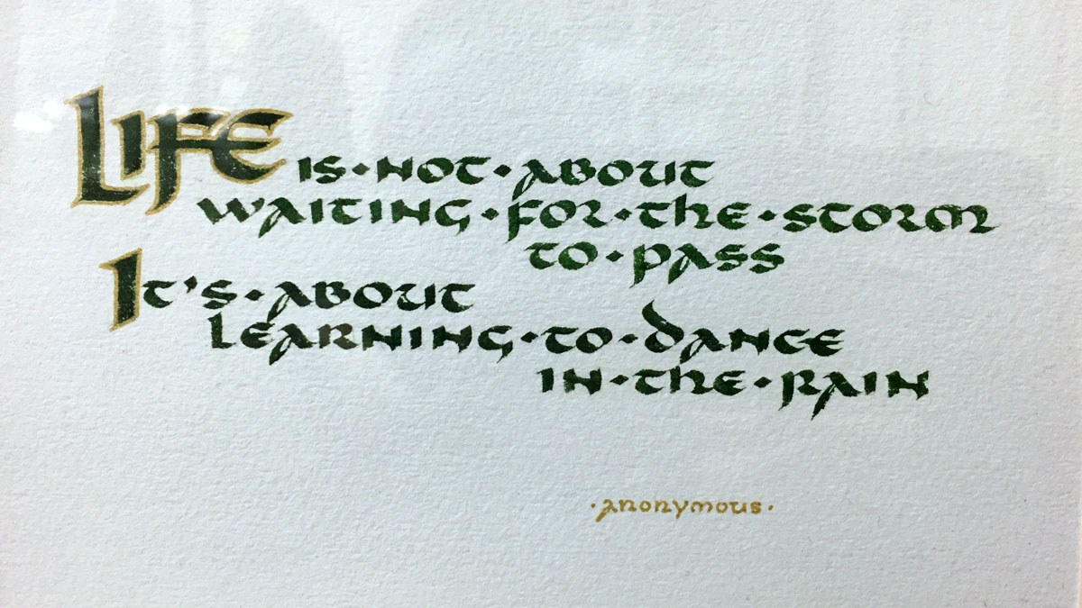 Saying in calligraphy