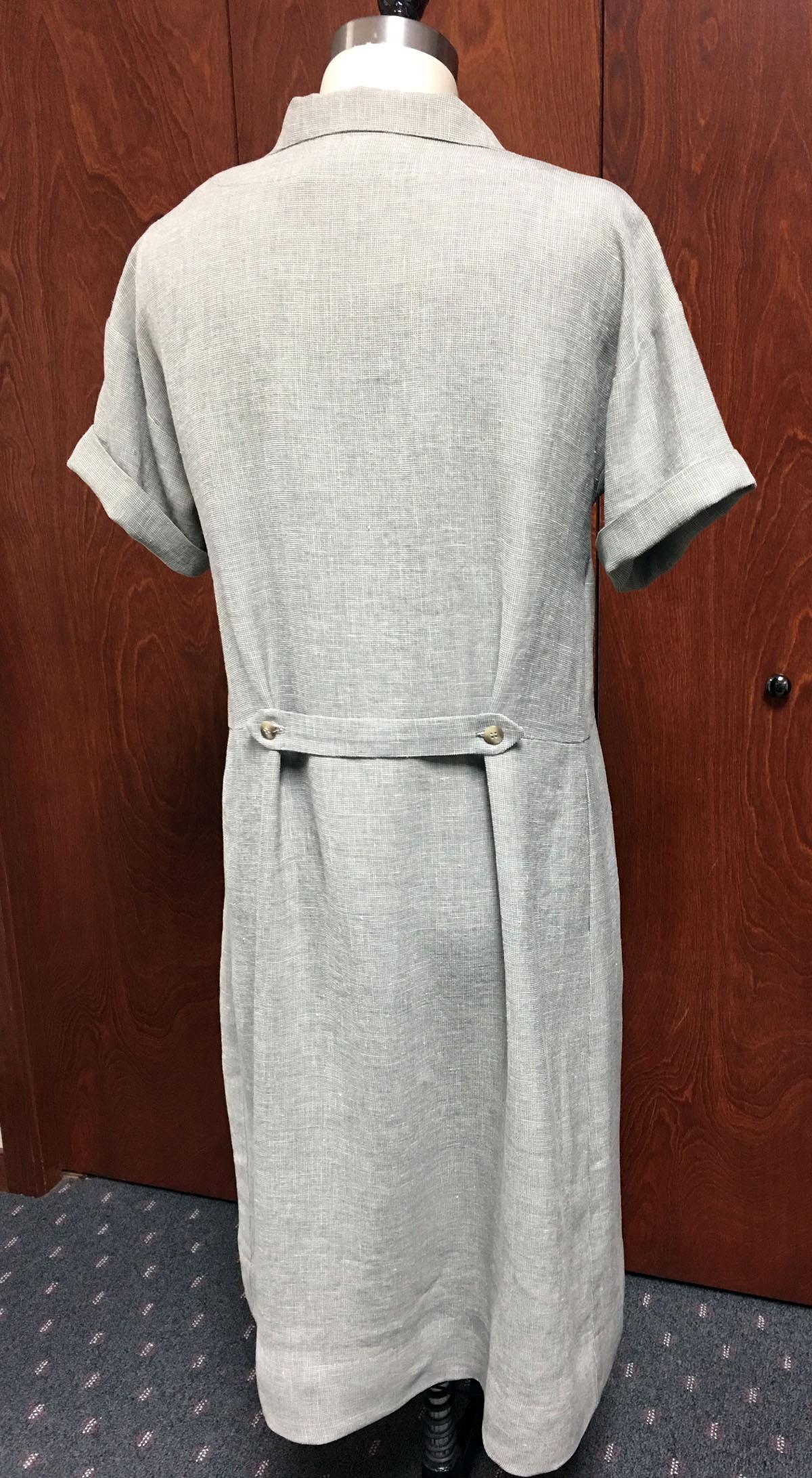 Favorite unworn linen dress, back