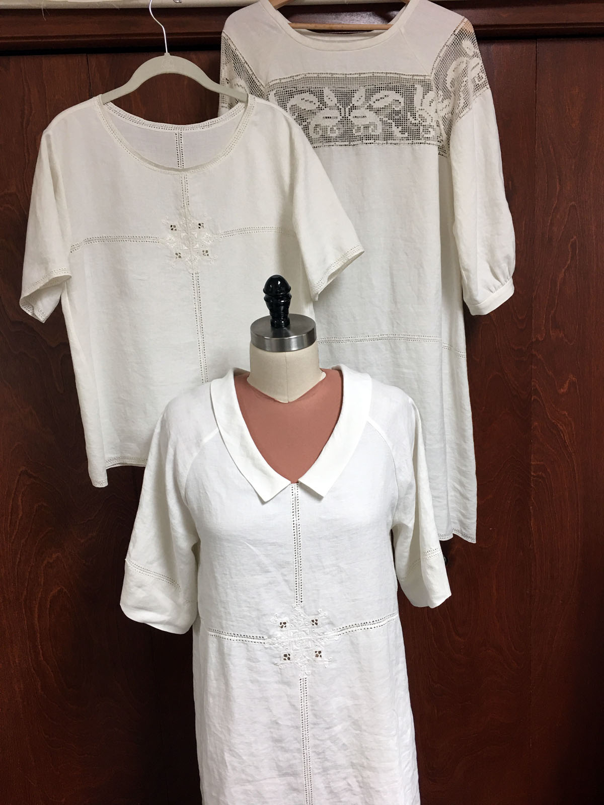 Sewing self-care: Becky Fulgoni made three garments made from an Italian linen tablecloth