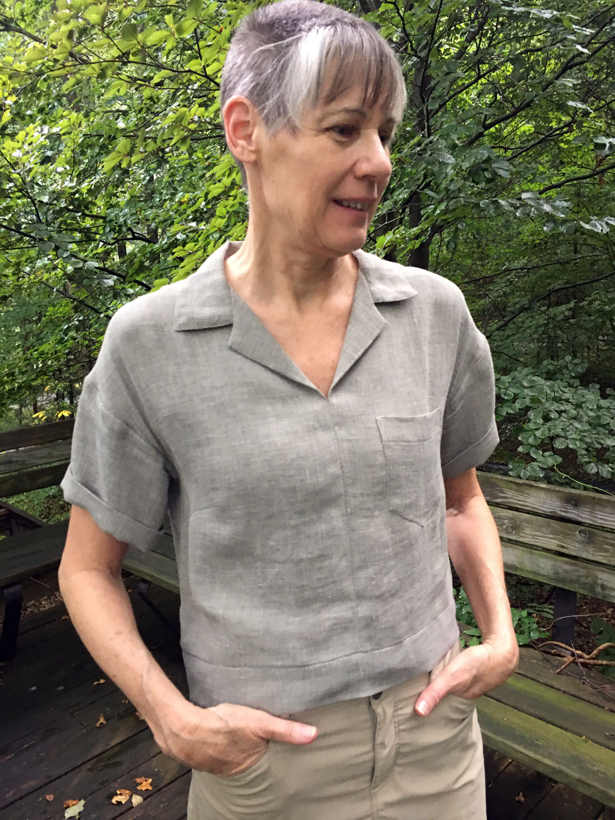 Sewing self-care project: Becky Fulgoni made a linen top from an unworn dress