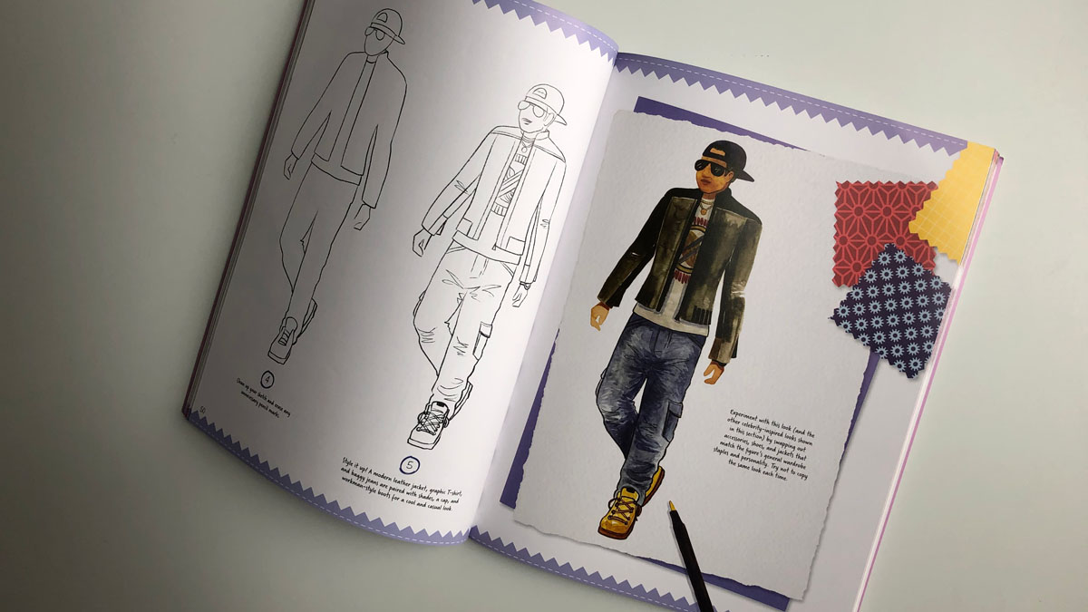 Inside pages of the book Fashion Design Workshop: Remix