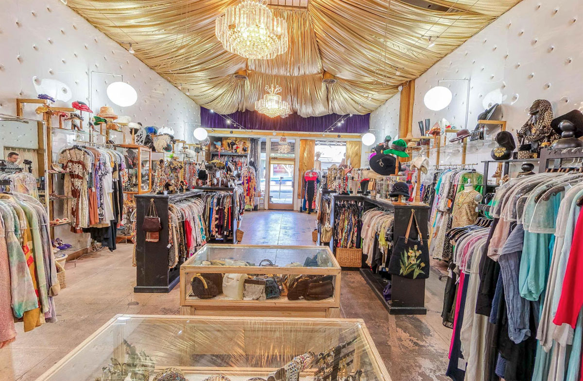 Interior of The Way We Wore vintage fashion boutique in Los Angeles