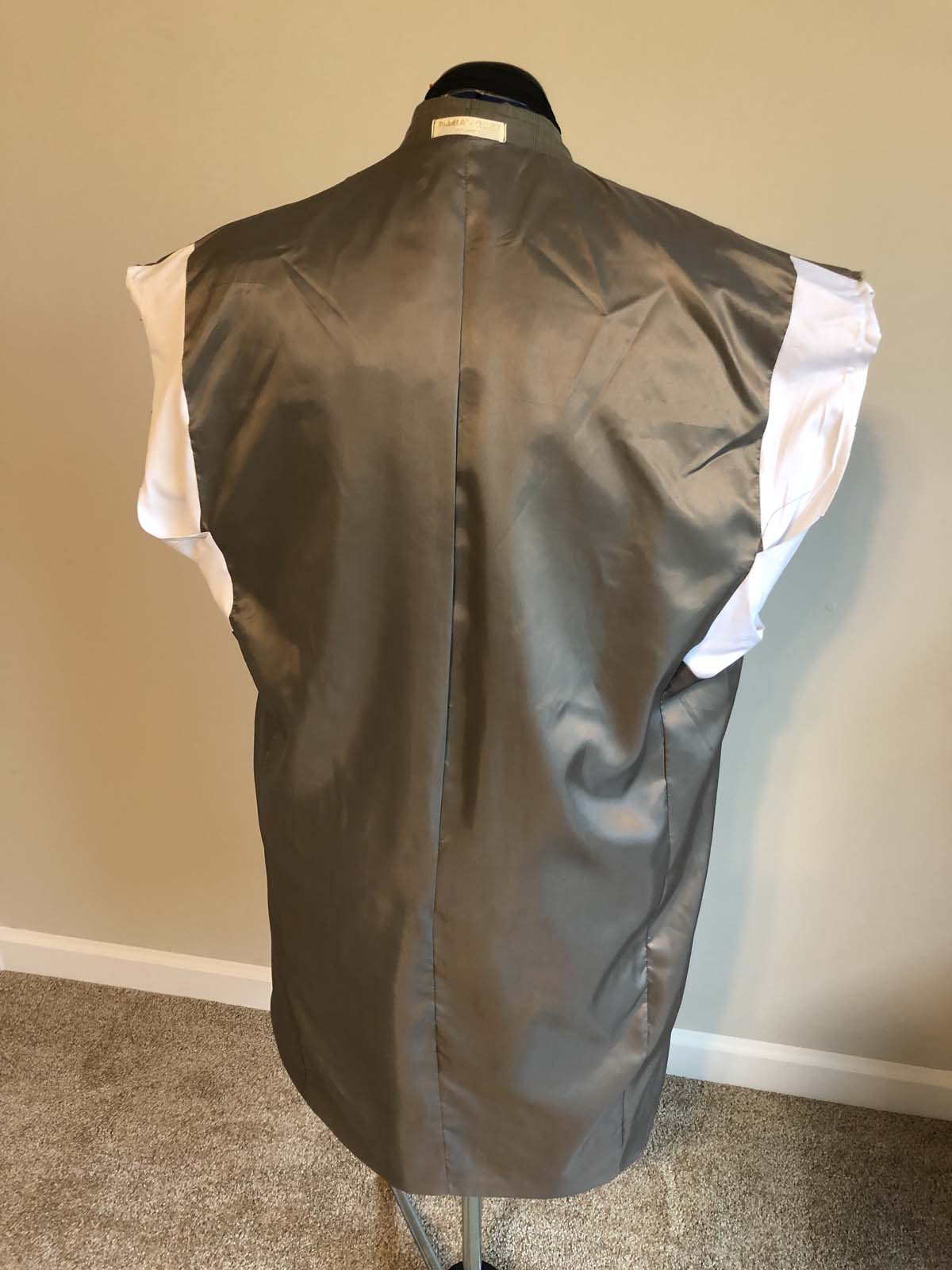 adjusted suit jacket lining
