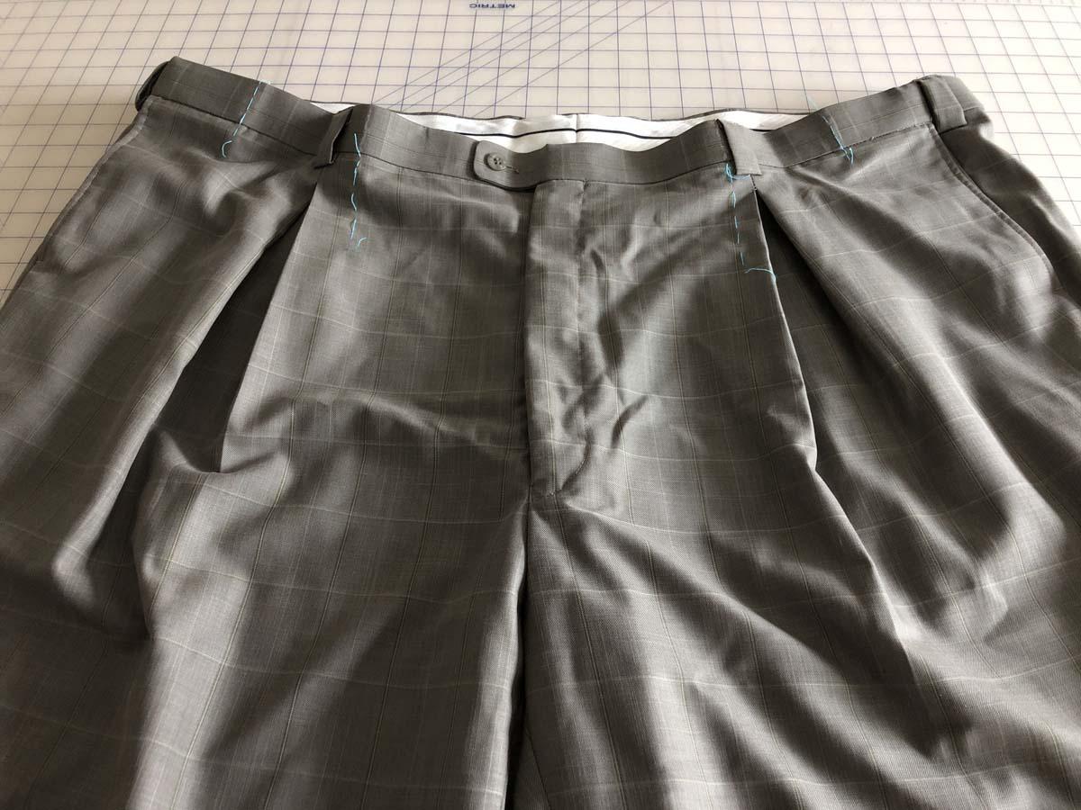 Original men's suit pants zipped up