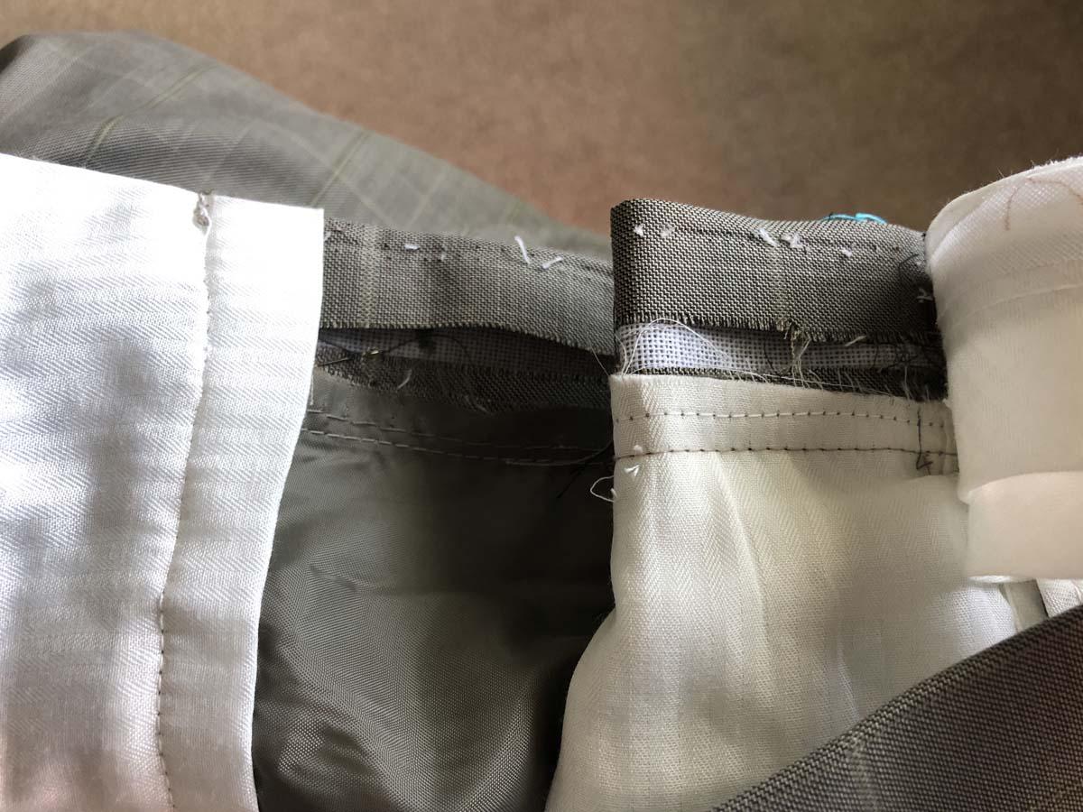 Deconstructing the men's suit pants waistband