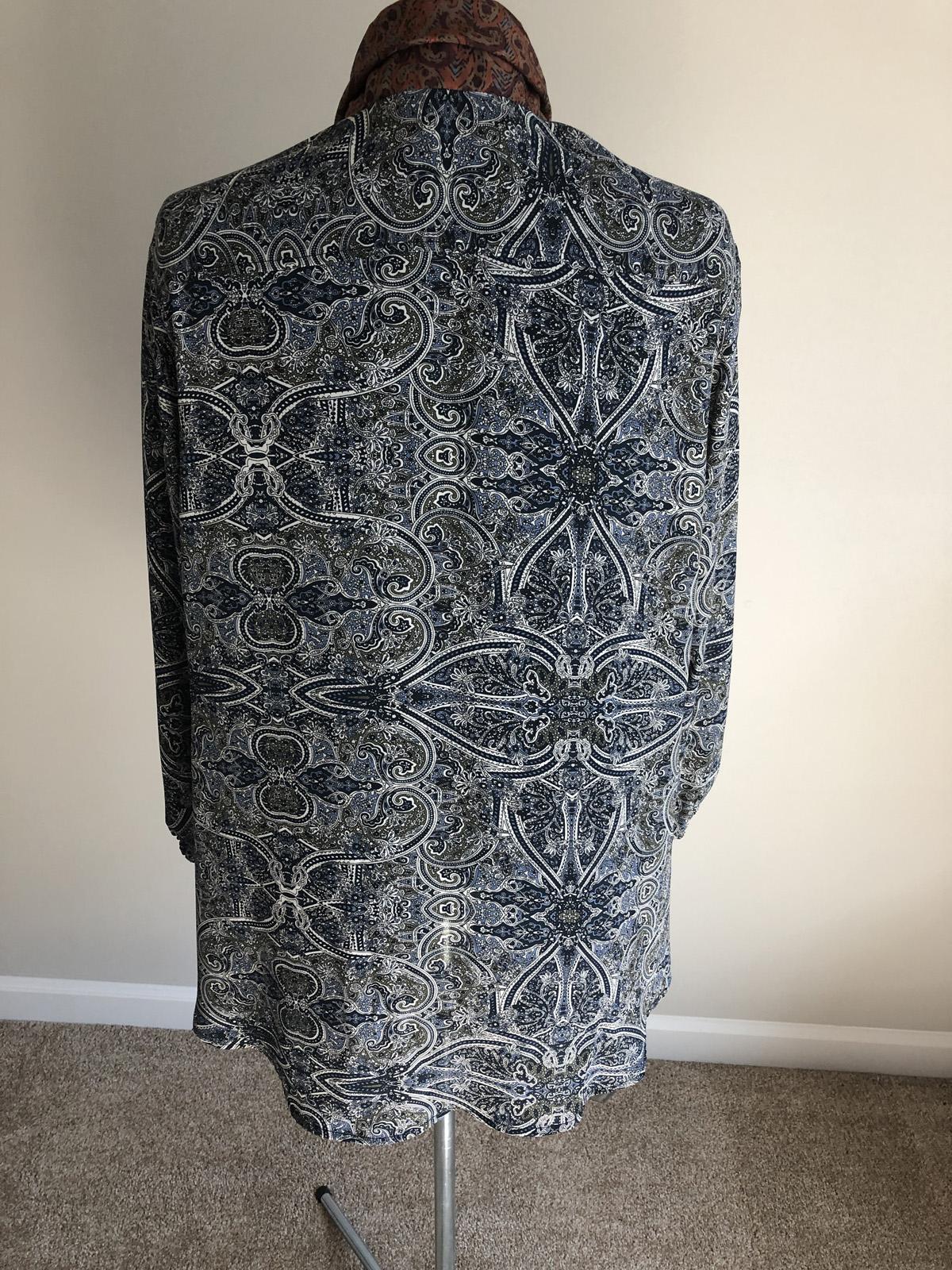 Finished upcycled paisley blouse back