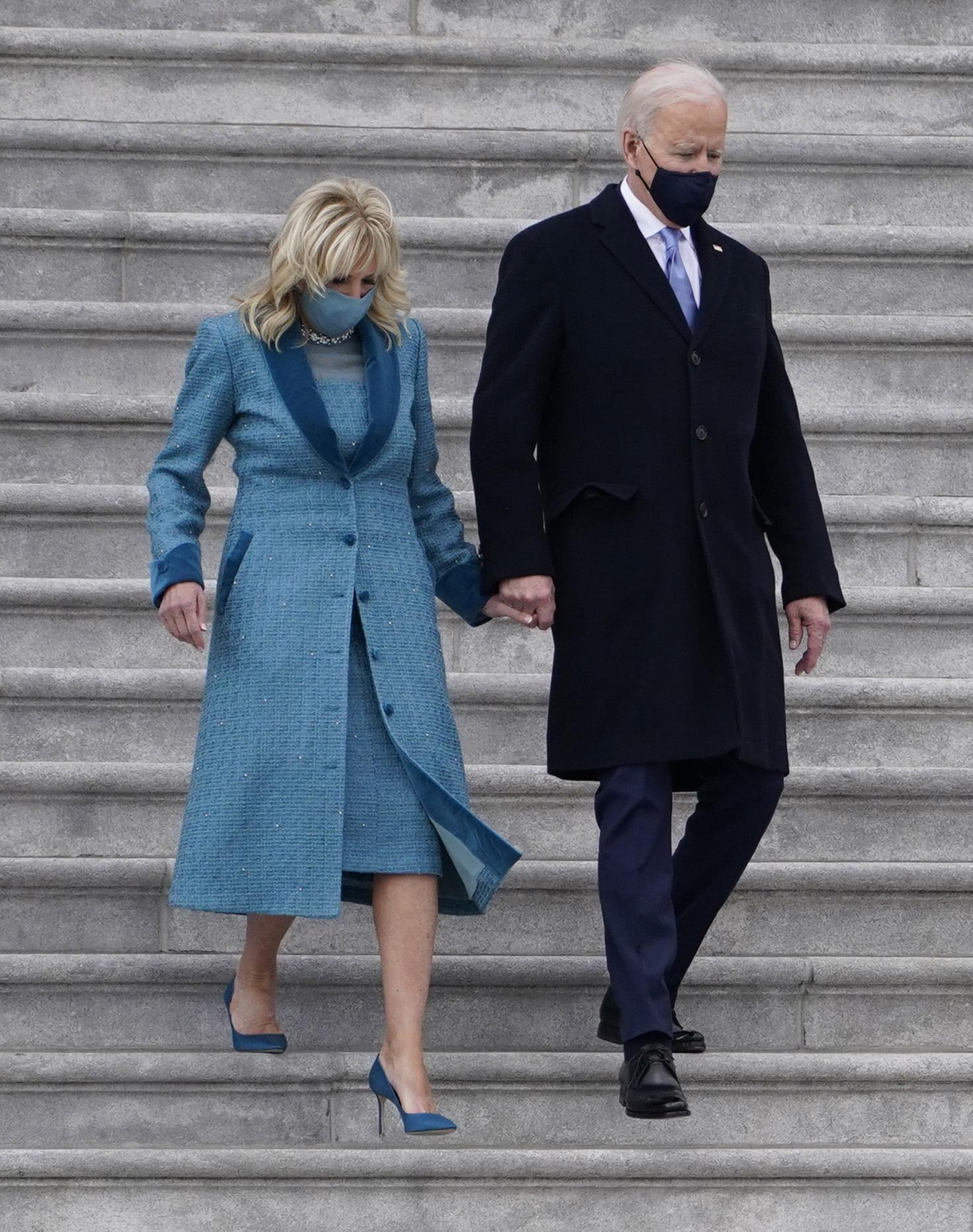 President Joe Biden and First Lady Jill Biden on Inauguration Day 2021