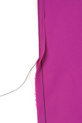 Sew the seam, fold the seam allowance over, and stitch again.