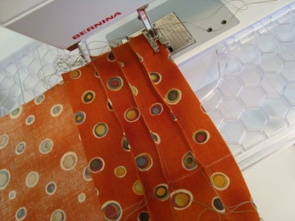 Sew the tucks