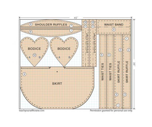 heart apron free pattern download