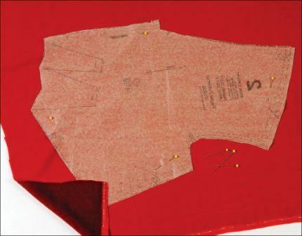 sew velvet lay pattern pieces on top of velvel