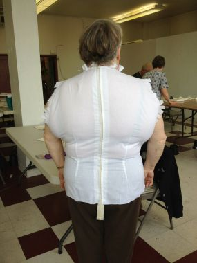 back view of moulage muslin
