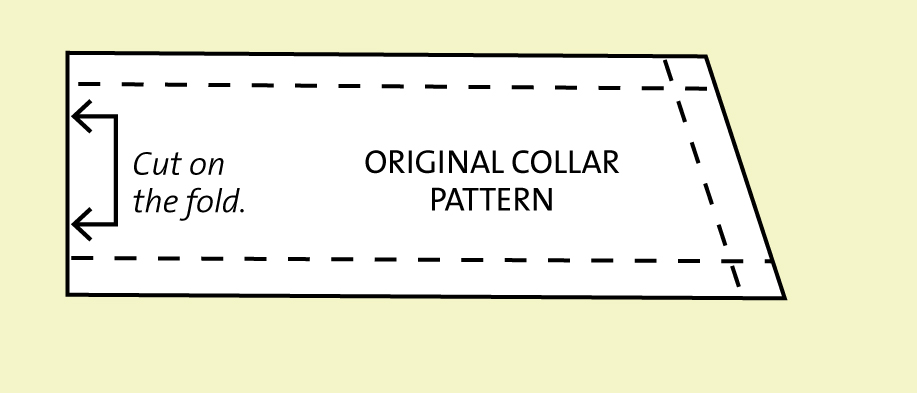 Half Collar Pattern Piece