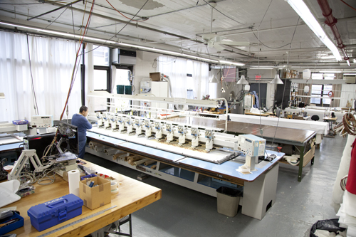 Space for embroidery machine