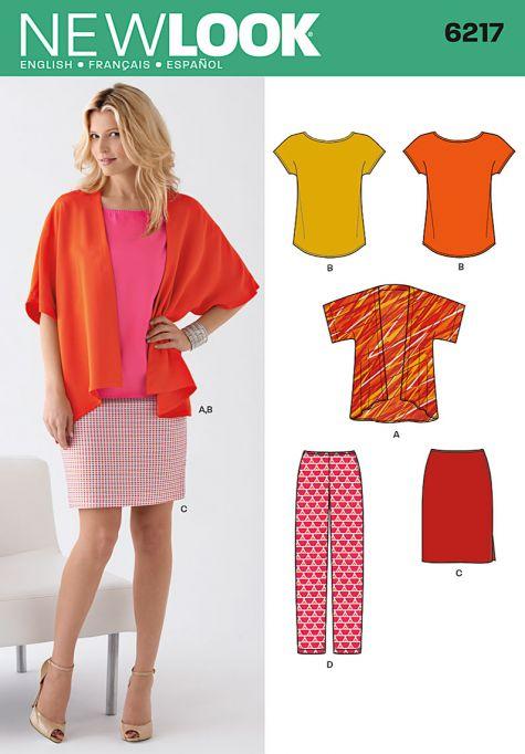 new look pattern 6217