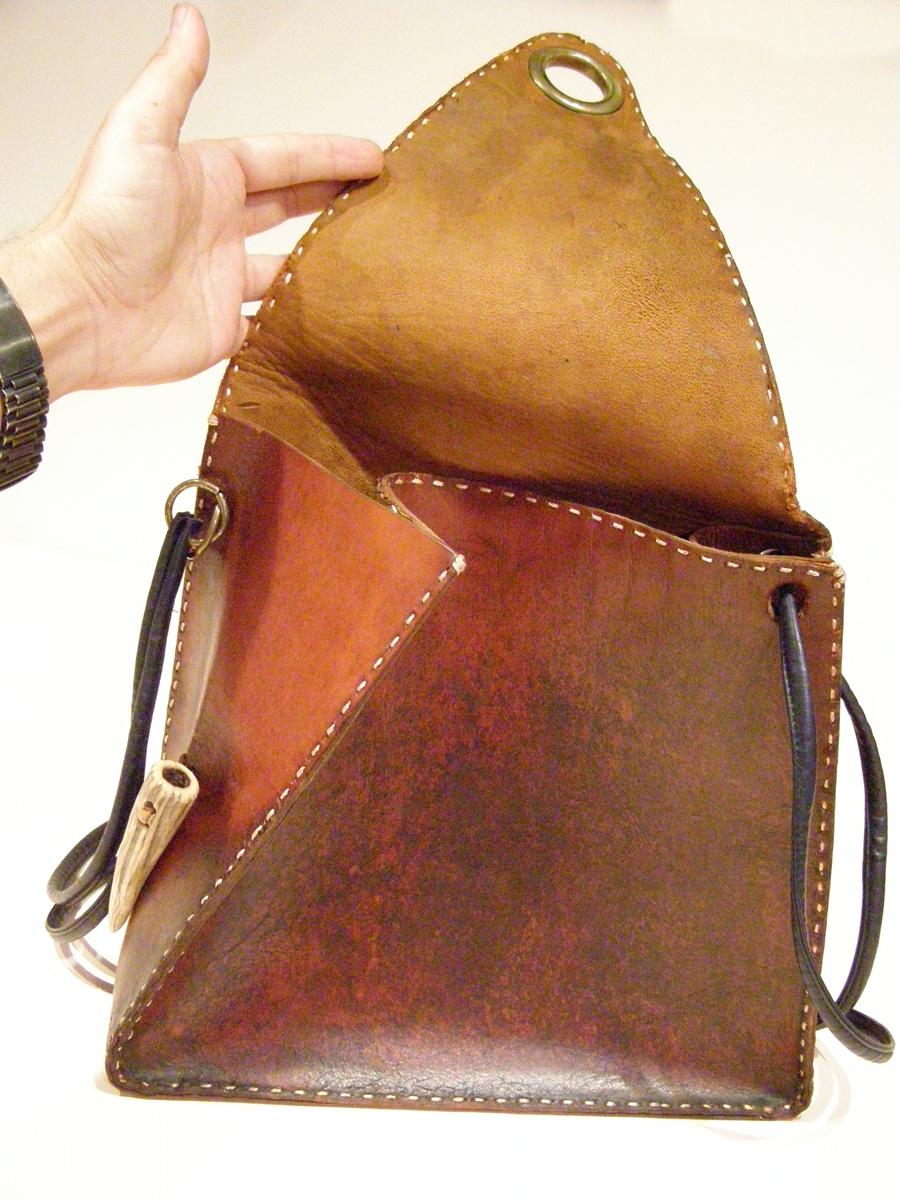 Flap of Vintage Modernist Bag