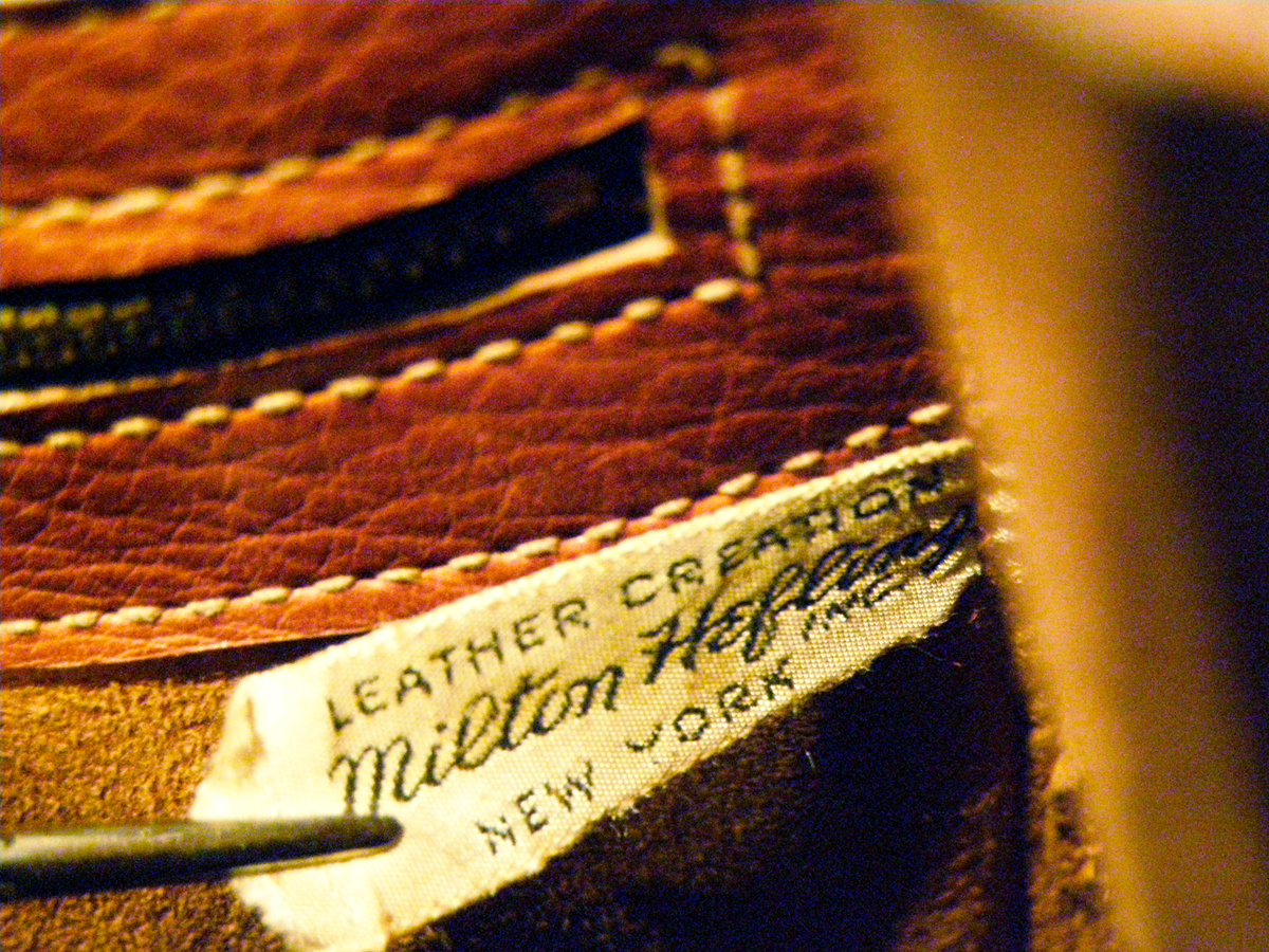 Label of Milton Heffing, Inc., New York.