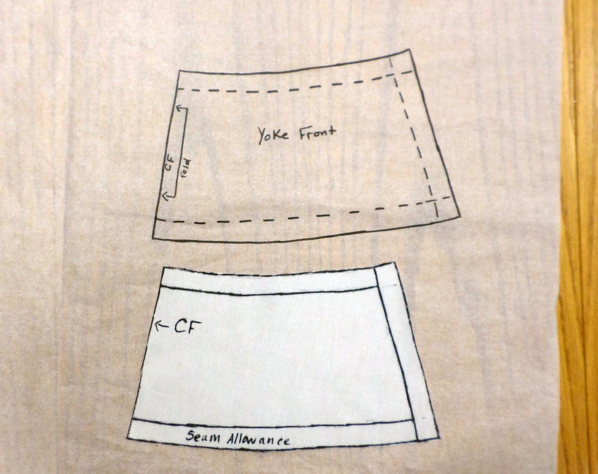 Transfer A Muslin Drape To Pattern Paper Threads