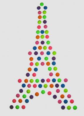 Eiffel tower design free template