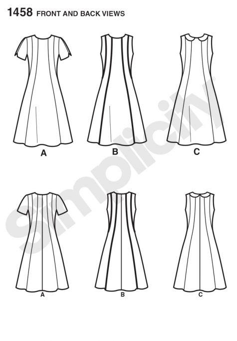 simplicity pattern 1458