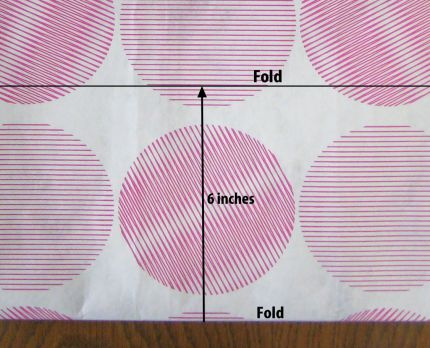 Fold widthwise