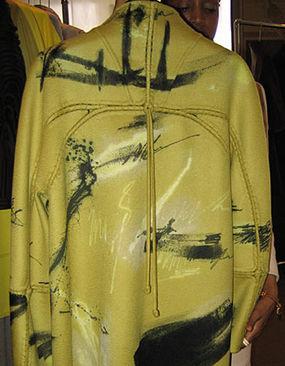 Pleated cashmere coat