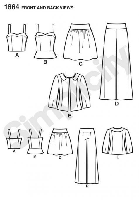 simplicity pattern 1664
