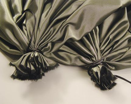 2 1. Fold your two-yard length of fabric