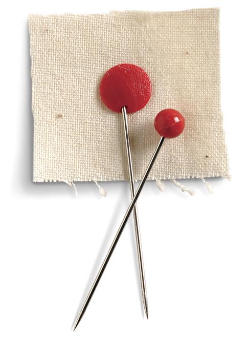 Plastic-headed pins