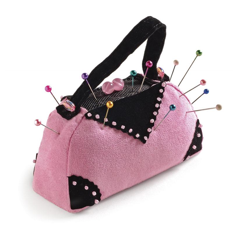 Stuffed purse pincushion