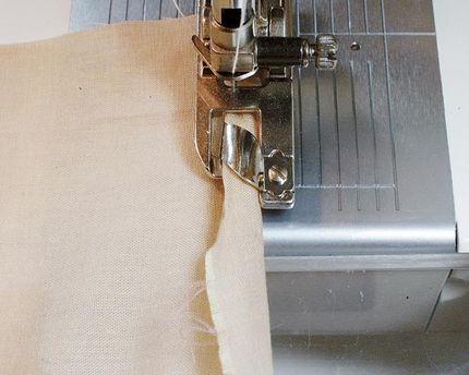 5. Feed the fabric edge