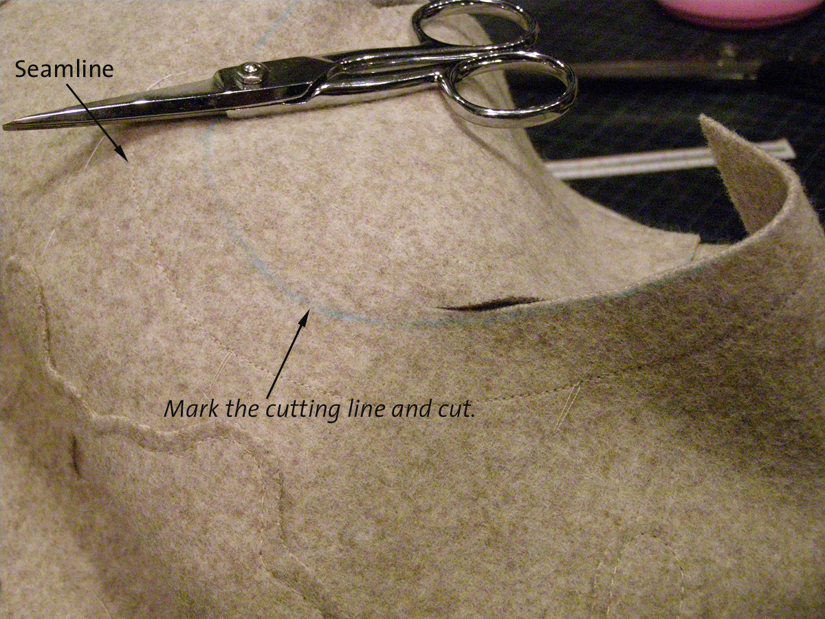 how to install sleeves tailored wool coat 4