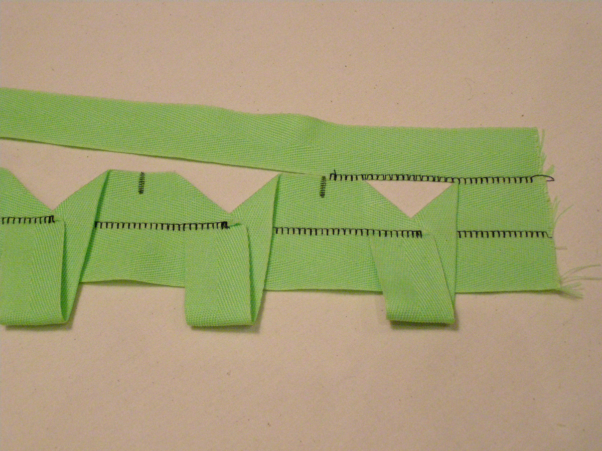 how to origami top twill tape threads