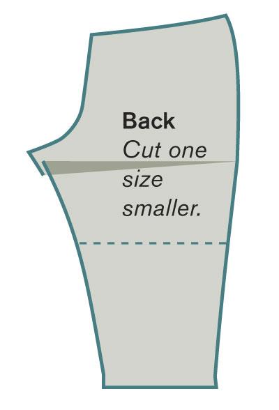 Smaller back pattern