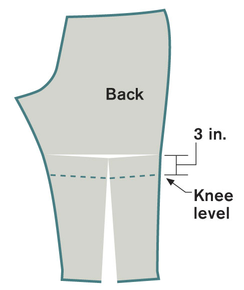 Lengthen and widen the lower back leg