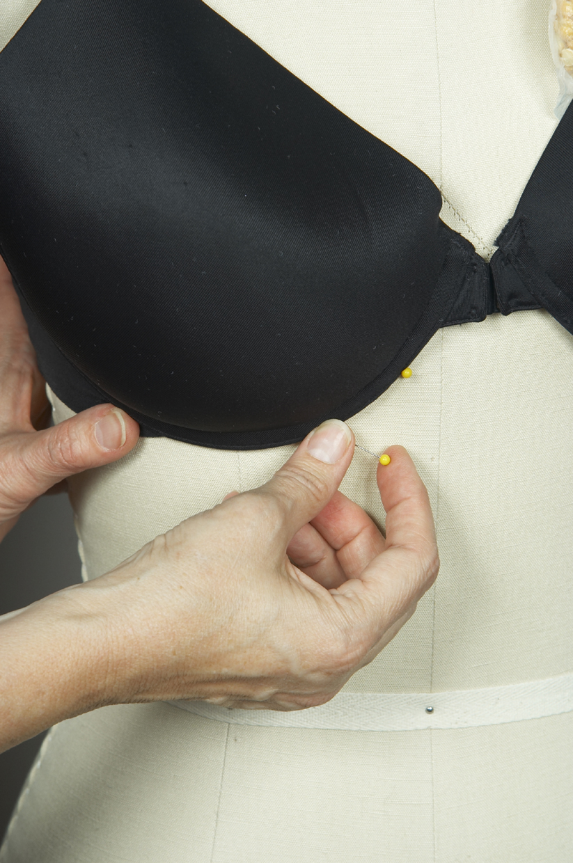 humanize the dress form shape the bust 1