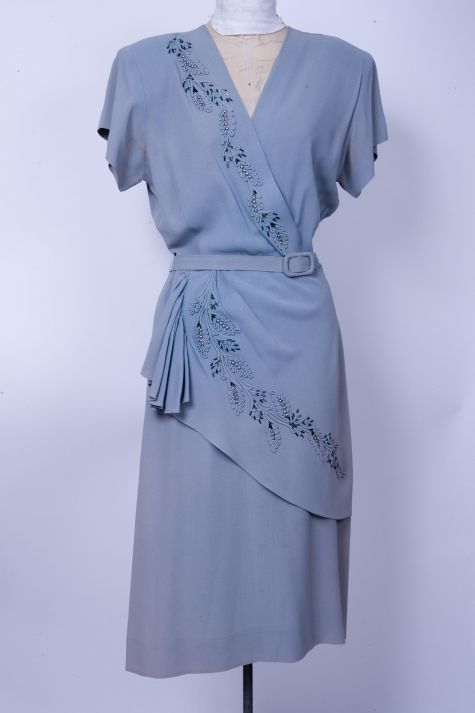 Embellished blue dress